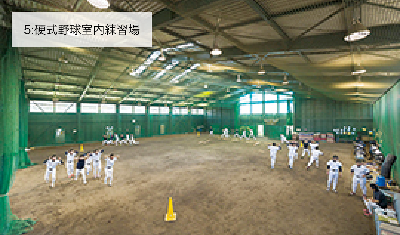 5:硬式野球室内練習場