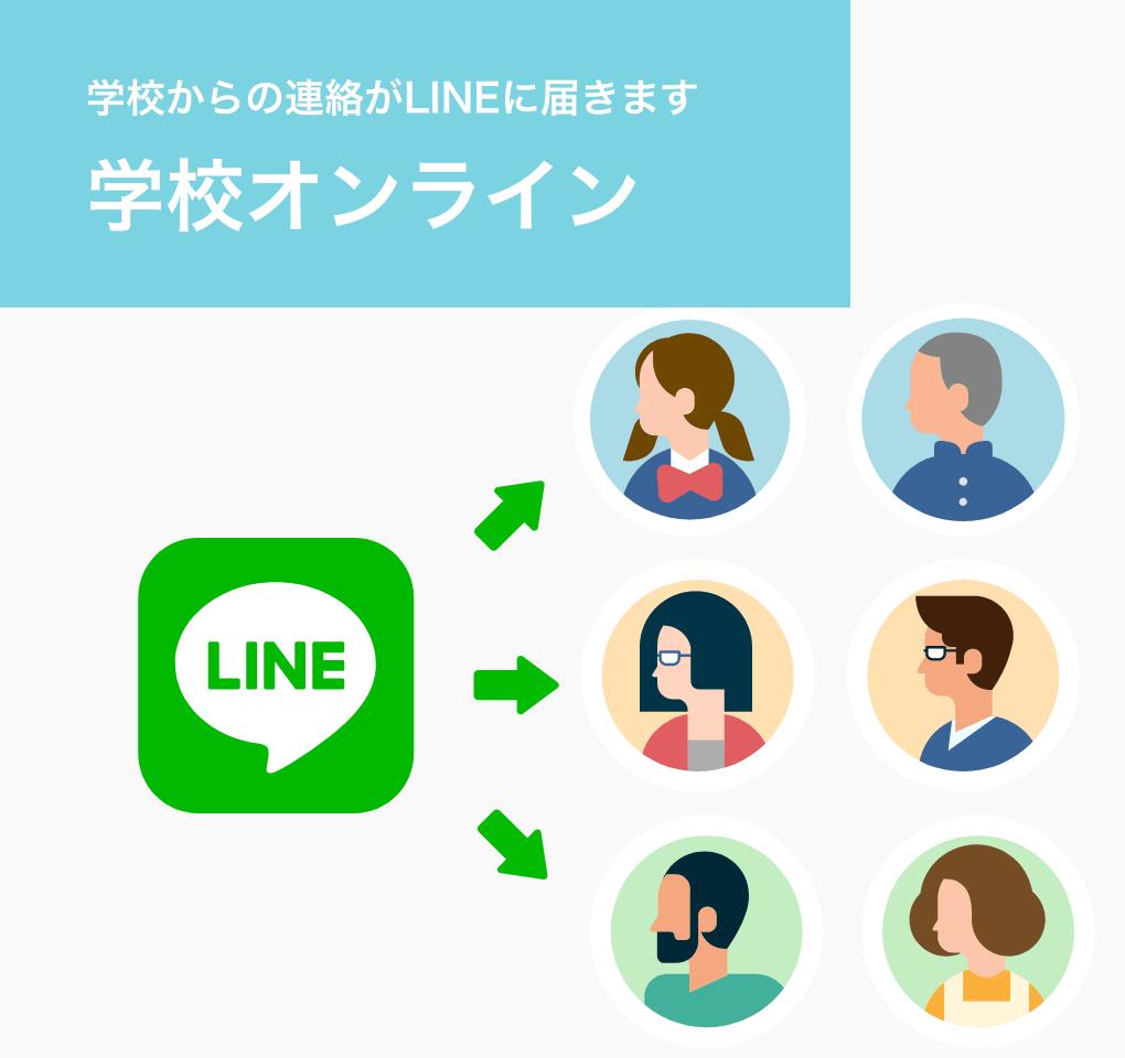 LINEで連絡が届く 学校オンライン